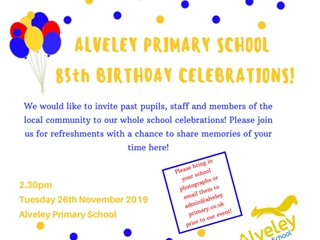 Alveley is 85 years old